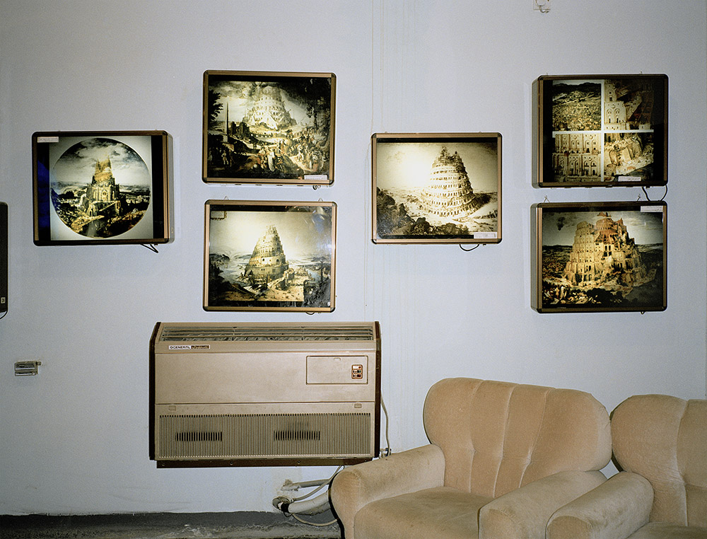 Museum, drawings of the Tower of Babel, Babylon Iraq 2002 © Armin Linke
